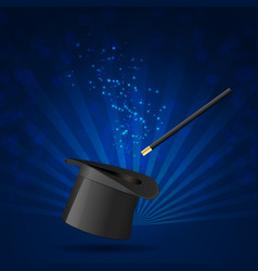 cylinder and magic wand background vector image