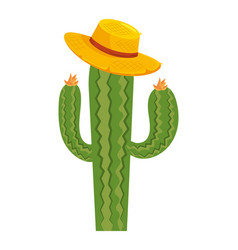 Desert cactus cartoon vector