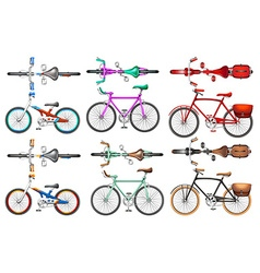 Different kind of bicycles vector