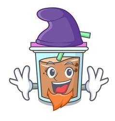 Elf bubble tea character cartoon vector