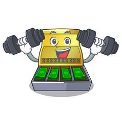 Fitness electronic cash register isolated on a vector
