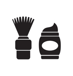 Flat icon in black and white shaving foam vector
