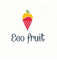 fruit map pin icon vector image