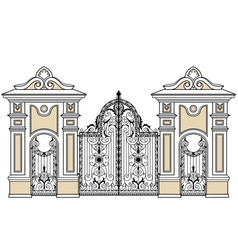 Gate and wickets vector