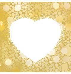 Golden Heart bokeh frame with copy space EPS 8 vector