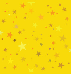 Golden stars pattern swatch vector