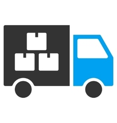 Goods Transportation Car Flat Icon vector image