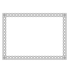Gothic simple black ornamental decorative frame vector