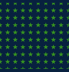 green stars pattern on blue background vector image