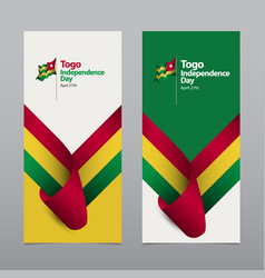 Happy togo independence day celebration template vector