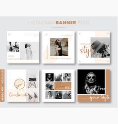 instagram banners vector image