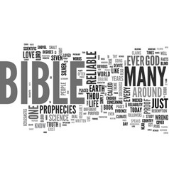 Is the bible reliable text background word cloud vector