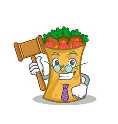 Judge kebab wrap character cartoon vector