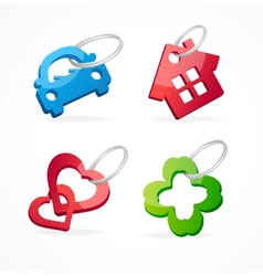 Key chain collection and rings vector image