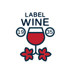 label of wine 1935 natural top quality product vector image