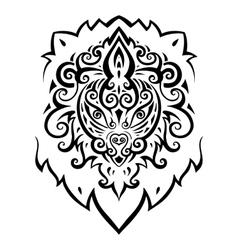 Lion head Ethnic pattern vector