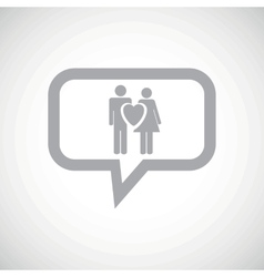 Love couple grey message icon vector image