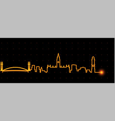 manchester light streak skyline vector image