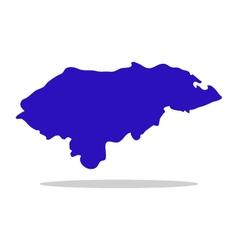 map honduras vector image