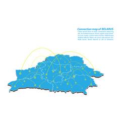 Modern of belarus map connections network design vector