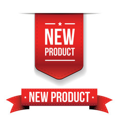 New Product red ribbon vector image