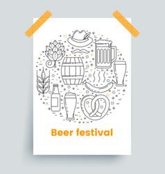 octoberfest beer festival design brochure mockup vector image