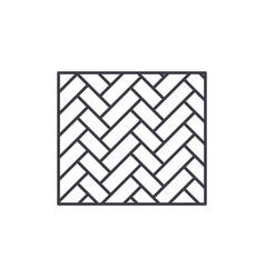 parquet line icon concept parquet linear vector image