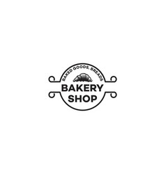 pastries vintage bakery logo vector image