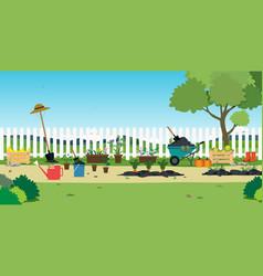 Plants in the garden vector