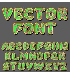 Psychodelic alphabet vector
