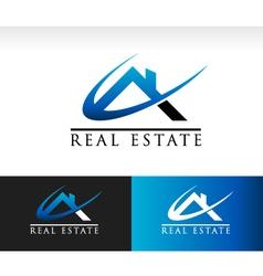 Real estate house roicon vector