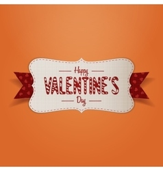 Realistic Banner with Happy Valentines Day Text vector