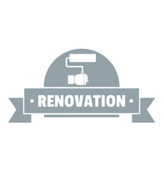 Reconstruction logo vintage style vector
