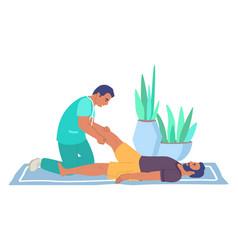rehabilitation center leg massage therapy flat vector image