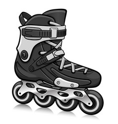 roller skate cartoon isolated vector image
