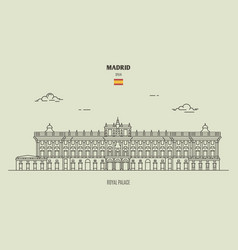 Royal palace in madrid spain vector