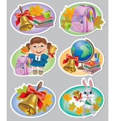 School stickers vector