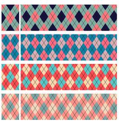 scottish patterns set vector image
