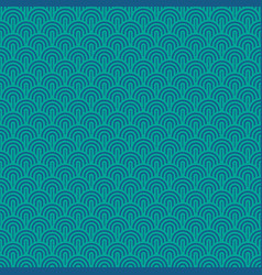 seamless chinese sea waves pattern turquoise vector image