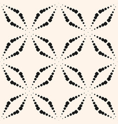 Seamless pattern with dots halftone crosses black vector