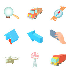 Search space icons set cartoon style vector