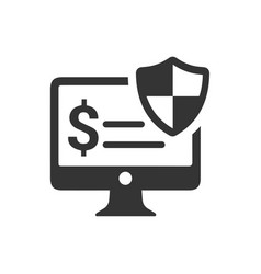 Secure online payment icon vector