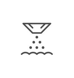 seeding line icon vector image