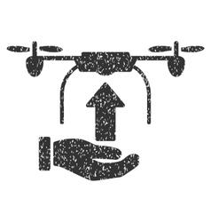 Send Drone Hand Grainy Texture Icon vector image