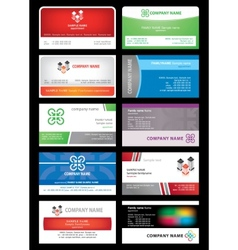 Set cards stock building vector
