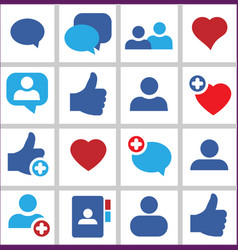 set icon social network vector image