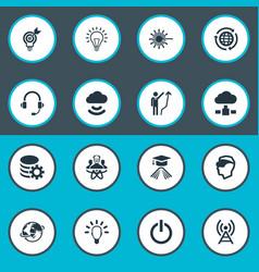 Set simple creativity icons vector