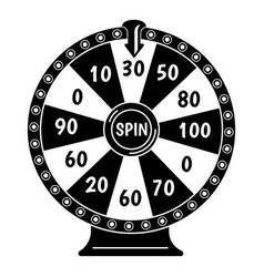 Spin fortune wheel icon simple style vector