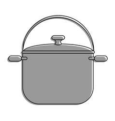 steel cooking pot vector image