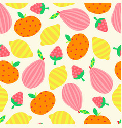 summer fruit seamless pattern abstract vector image